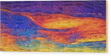 Wood Print featuring the digital art Color Explosion by Kirt Tisdale
