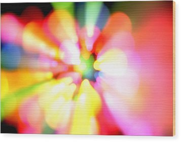 Color Explosion Wood Print by Les Cunliffe