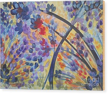 Color Flurry Wood Print by Holly Carmichael