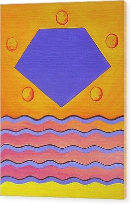 Color Geometry - Pentagon Wood Print