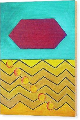 Color Geometry - Hexagon Wood Print