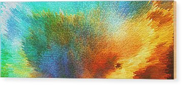 Color Infinity - Abstract Art By Sharon Cummings Wood Print by Sharon Cummings