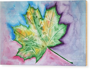 Color Leaf Wood Print