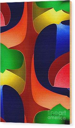 Wood Print featuring the digital art Color Maze by Rafael Salazar