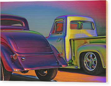 Wood Print featuring the photograph Color Me A Hot Rod by Christopher McKenzie