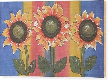 Color Me Sunny Wood Print
