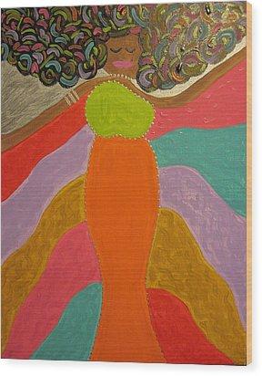 Color Of Dance Wood Print by Clarissa Burton
