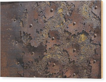 Wood Print featuring the photograph Color Of Steel 2 by Fran Riley