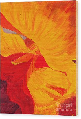 Color Orange Wood Print by Mukta Gupta