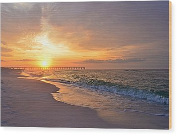 Color Palette Of God On The Beach Wood Print by Jeff at JSJ Photography
