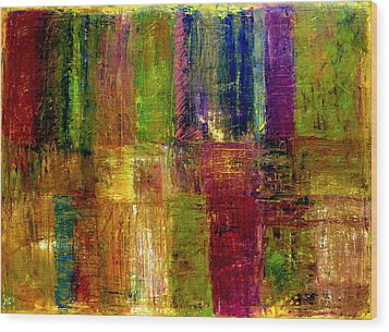 Color Panel Abstract Wood Print by Michelle Calkins