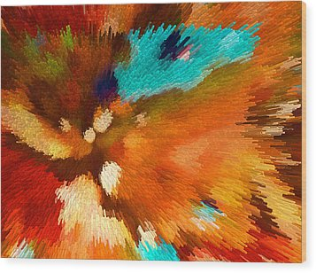 Color Shock 1 - Vibrant Digital Painting Wood Print by Sharon Cummings