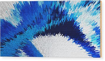 Color Shock 2 - Vibrant Digital Painting Art Wood Print by Sharon Cummings
