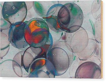Color Spheres Wood Print by Dennis James