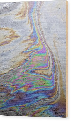 Wood Print featuring the photograph Color Swirl by Geraldine Alexander