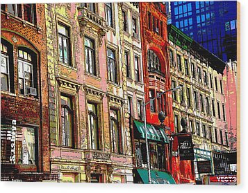 Color The City New York Wood Print by Thomas Fouch