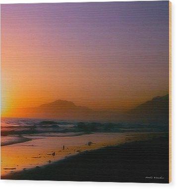Color Wash Sunset  Wood Print by Debra     Vatalaro