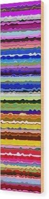Color Waves No. 5 Wood Print by Michelle Calkins