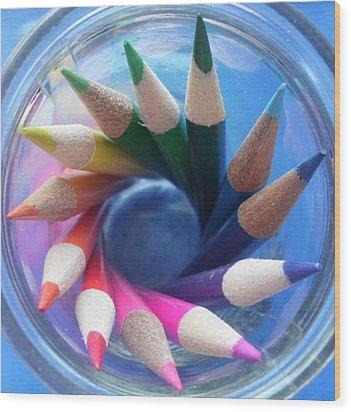 Color Wheel Wood Print by Elizabeth Sullivan