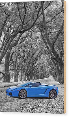 Color Your World - Lamborghini Gallardo Wood Print