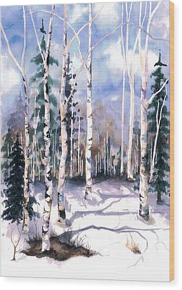 Colorado Aspens 2  Wood Print by Barbara Jewell