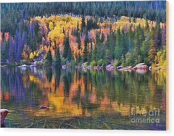 Colorado Autumn Wood Print by Jon Burch Photography