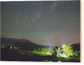 Colorado Chapel On The Rock Dreamy Night Sky Wood Print by James BO  Insogna