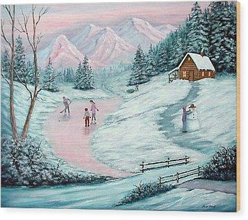 Colorado Christmas Wood Print by Fran Brooks