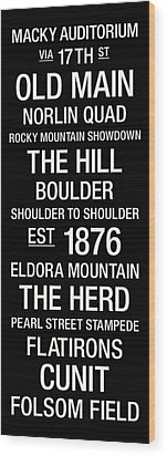 Colorado College Town Wall Art Wood Print by Replay Photos