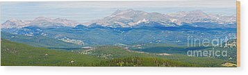 Colorado Continental Divide Panorama Hdr Crop Wood Print by James BO  Insogna