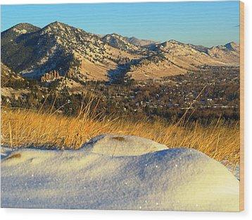 Colorado Front Range Sunrise Wood Print