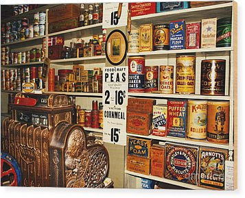 Colorado General Store Supplies Wood Print by Janice Rae Pariza