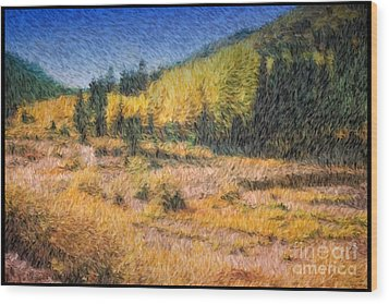 Wood Print featuring the photograph Colorado Golden Autumn by Arthaven Studios