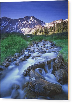 Colorado High Country Wood Print by Ray Mathis
