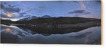 Colorado Moon To Milk Wood Print by Mike Berenson