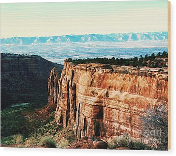 Colorado National Monument Wood Print by Polly Peacock