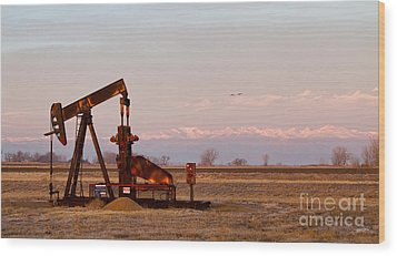 Colorado Oil Well Panorama Wood Print by James BO  Insogna