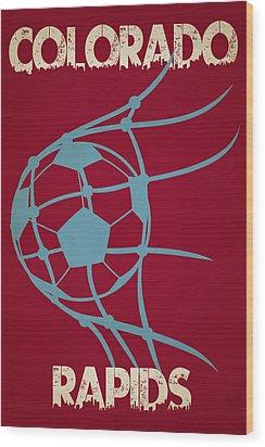 Colorado Rapids Goal Wood Print by Joe Hamilton