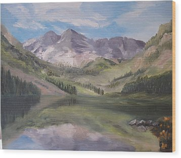 Colorado Reflections Wood Print by Roberta Rotunda