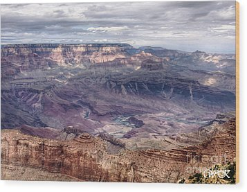 Wood Print featuring the photograph Colorado River At Grand Canyon by Wanda Krack