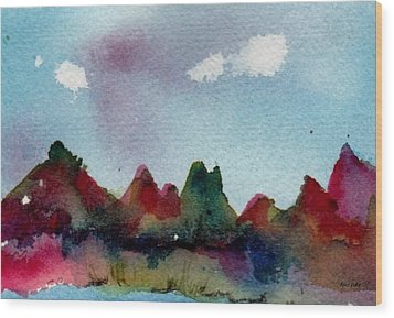 Wood Print featuring the painting Colorado River Glow by Anne Duke