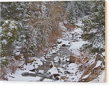 Colorado St Vrian Winter Scenic Landscape View Wood Print by James BO  Insogna