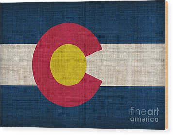 Colorado State Flag Wood Print by Pixel Chimp