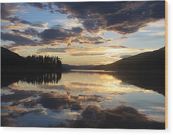 Wood Print featuring the photograph Colorado Sunset by Chris Thomas