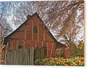 Wood Print featuring the photograph Colored Late Fall by Geri Glavis