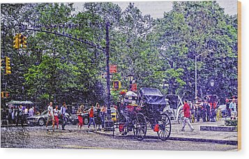 Colored Memories - Central Park Wood Print by Madeline Ellis