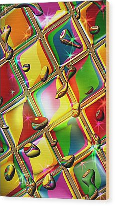 Colored Mirror By Nico Bielow Wood Print by Nico Bielow