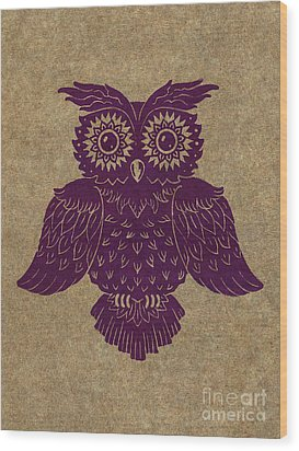 Colored Owl 1 Of 4  Wood Print by Kyle Wood