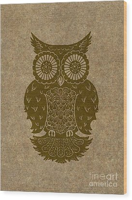 Colored Owl 3 Of 4  Wood Print by Kyle Wood