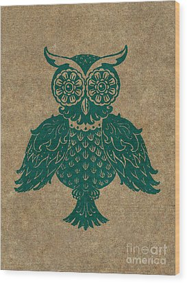 Colored Owl 4 Of 4  Wood Print by Kyle Wood